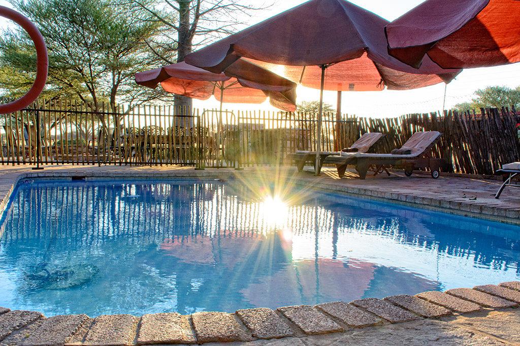 Der Pool mit Liegen - ideal zum Abkühlen nach einem heißen Tag