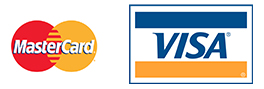 Zahlungen können mit VISA oder Mastercard vorgenommen werden.